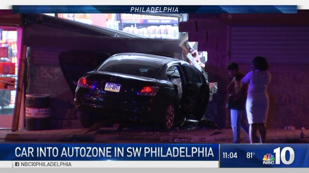 Police Chase Leads to Crash at Southwest Philadelphia AutoZone