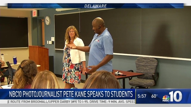 NBC10 Photojournalist Pete Kane Visits University of Delaware Students
