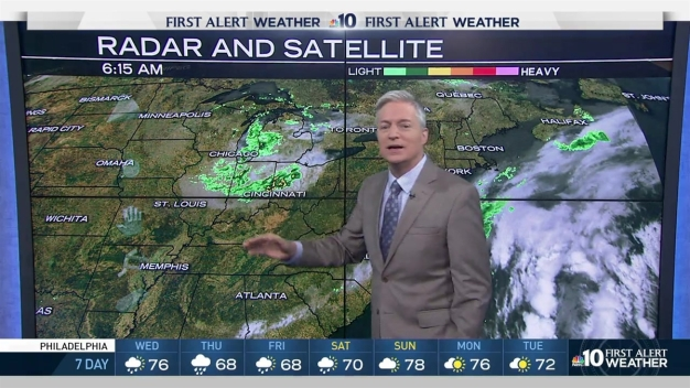 NBC10 First Alert Weather: Chance Showers, Increasing Clouds