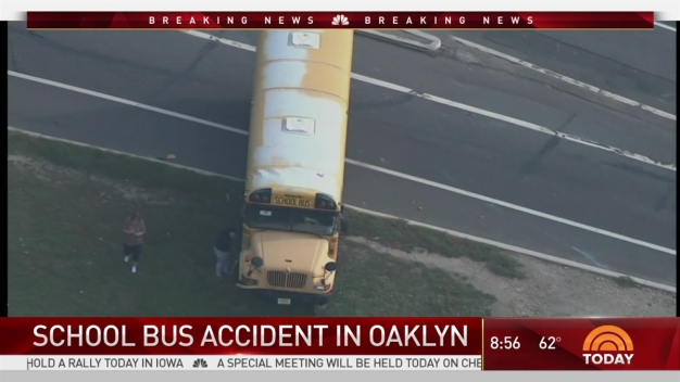 School Bus Strikes Pole in Camden County