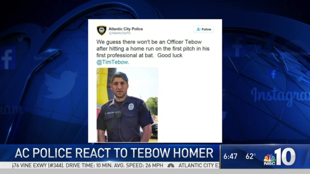 AC Police Tweet Mock Photo of Tim Tebow in Uniform
