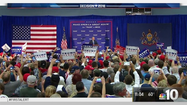Trump Rallies Voters in Bucks County