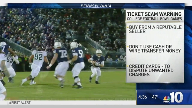 Pennsylvania AG Warns of Bowl Game Ticket Scheme