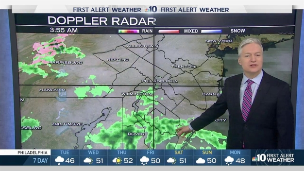 NBC10 First Alert Weather: Tracking a Rainy Day