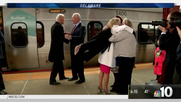 Bidens Take Amtrak Back to Wilmington