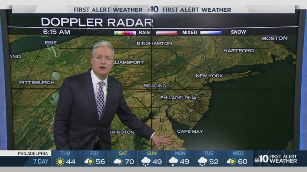 NBC10 First Alert Weather: Cold Today, Warm-Up on Its Way