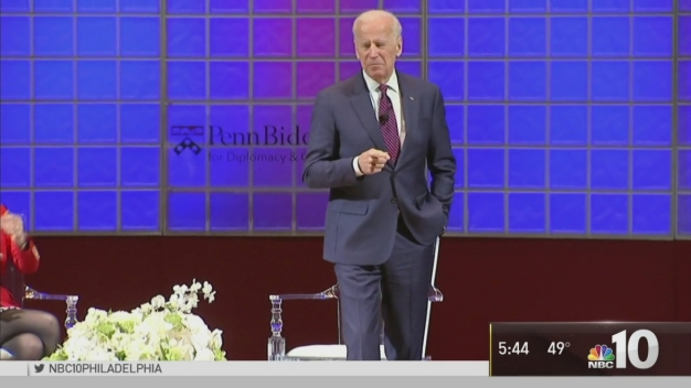 Joe Biden Speaks to Students at Penn