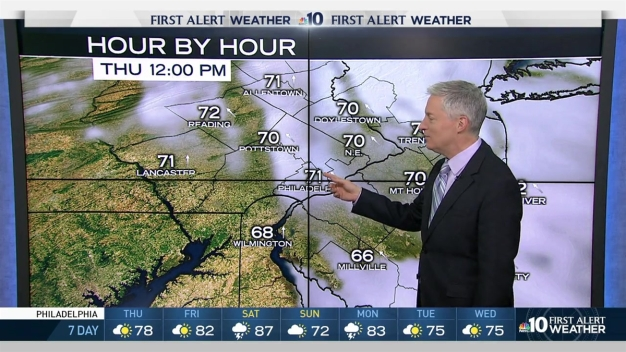 NBC10 First Alert Weather: Warm Thursday