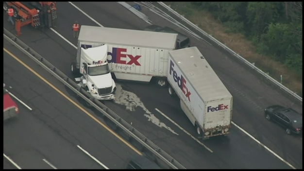 Raw Video: Turnpike Connector Truck Crash