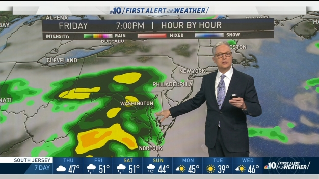 NBC10 First Alert Weather: Cloudy Day and  Rainy Weekend