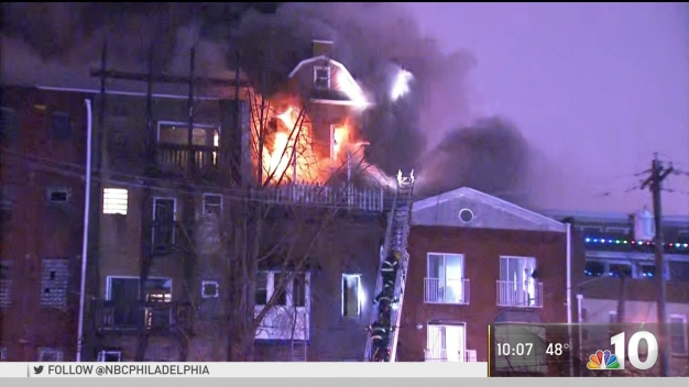 Flames Engulf 4-Story Building in Old City
