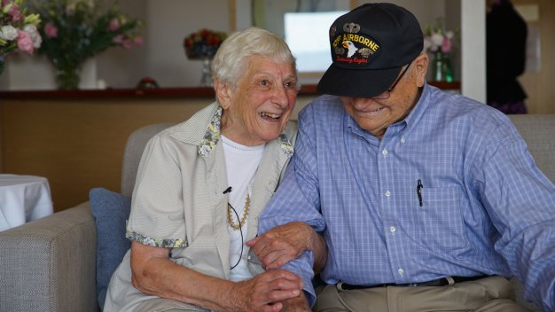 WATCH: WWII Vet Reunites With His Wartime Girlfriend