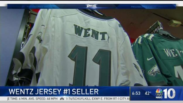 Wentz Has Highest Selling Jersey in NFL