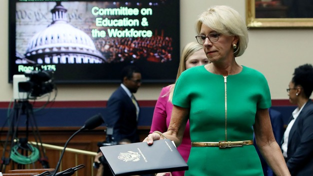 DeVos Incorrectly Says Schools Can Call ICE on Students