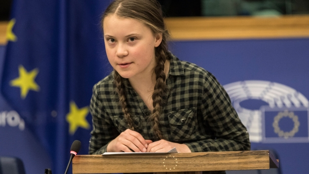 Teen Climate Activist Warns EU That It's Time to Panic