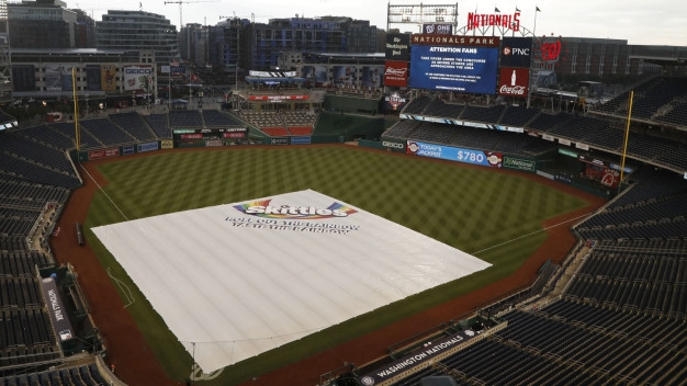 Phillies and Nationals Still Waiting to Start Series