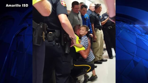 Texas Cops Escort Fallen Comrade's Son to School