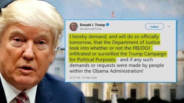Trump Demands Probe of Supposed Campaign 'Spy'