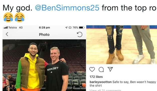 Ben Simmons Dunks on Would-be Instagram Troll