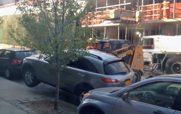 Forklift Moved Parked SUV in Brooklyn, Owner Says