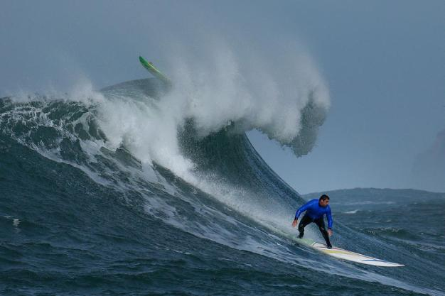 Women Surfers Competing at the Titans of Mavericks Competition