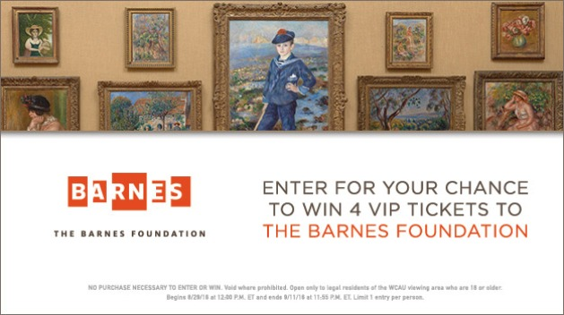 Barnes Foundation 2016 Giveaway