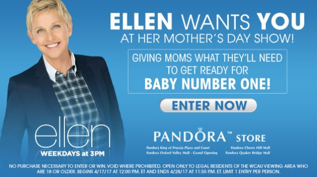 Ellen's First Time Mothers Giveaway