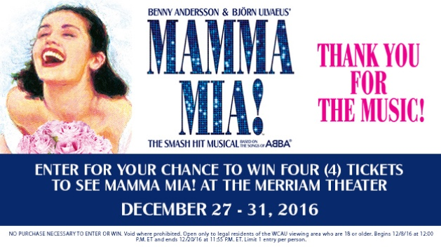 Kimmel Center Mamma Mia Sweepstakes 2016
