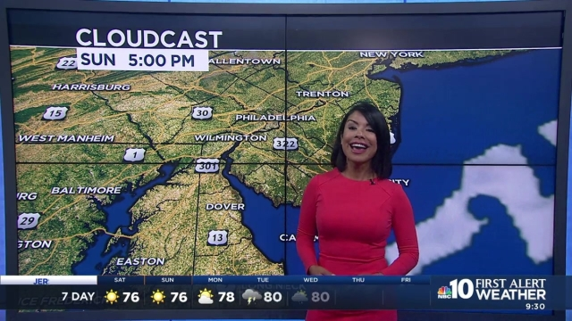 NBC10 First Alert meteorologist Erika Martin is keeping track of the clouds and making sure they don't ruin any weekend plans you might have.
