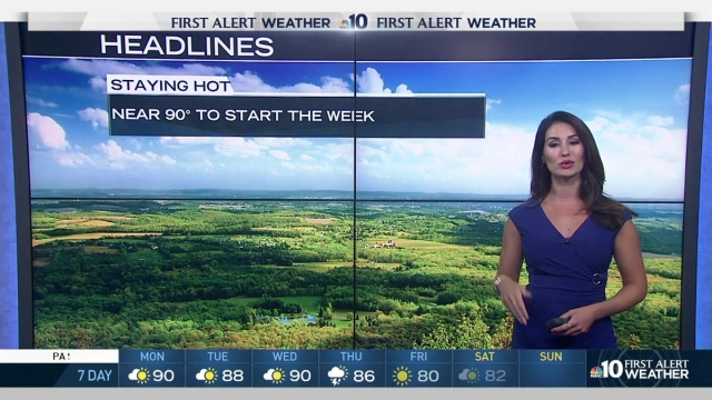 With temperatures reaching the high 90s, our forecast for the upcoming week will remain a hot and humid one. NBC10 Meteorologist Sheena Parveen breaks down Philadelphia's upcoming weekly forecast as temperatures look to peak in the high 90s and a lot of heat is headed our way.