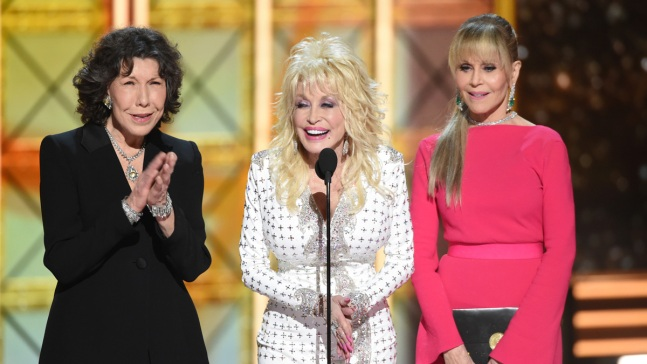 Emmy Audience Adores Tomlin, Parton, Fonda Emmy Reunion