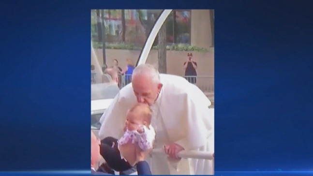 Family: Health of Baby Improves After Being Kissed by Pope
