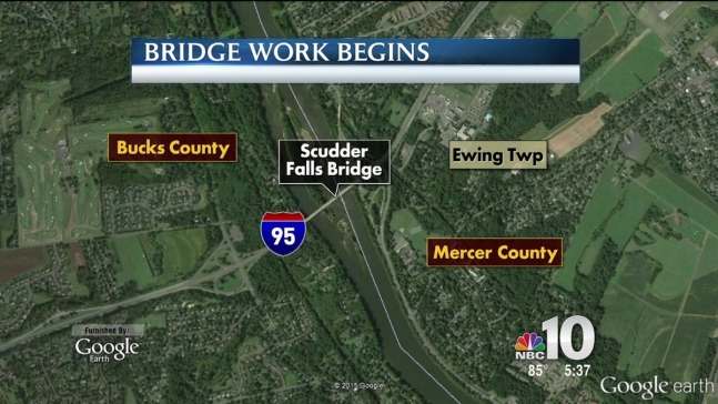 Bridge Work Begins in Bucks County
