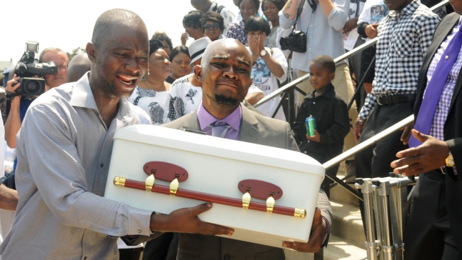 IMAGES: Funeral for Gesner Fire Victims