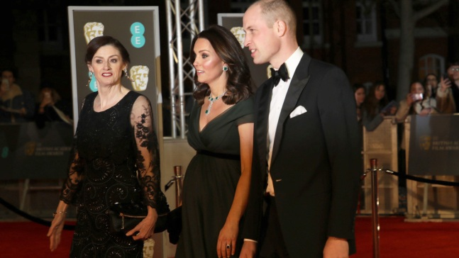 Kate Middleton Shows Baby Bump at 2018 BAFTA Awards