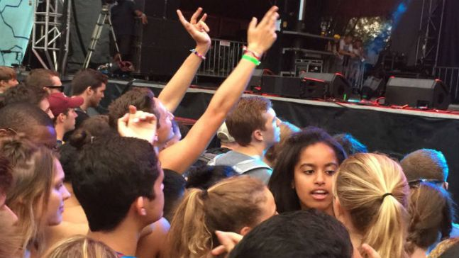 Malia Obama Spotted at Lollapalooza