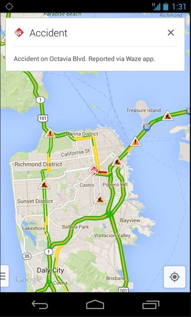 Google Maps Integrates Waze Traffic Reports