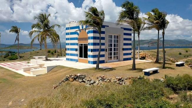Jeffrey Epstein's Blue-Striped Building on Private Island Raised Alarm