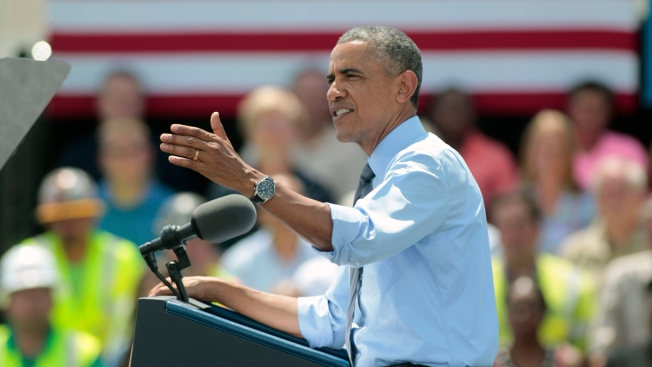 Obama Unveils Infrastructure Plan, Addresses Plane Crash in Delaware Visit