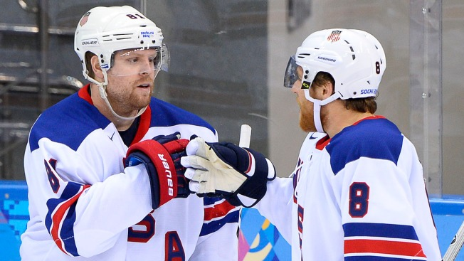 Phil Kessel Scores 3 to Help U.S. Rout Slovenia 5-1 in Olympic Hockey