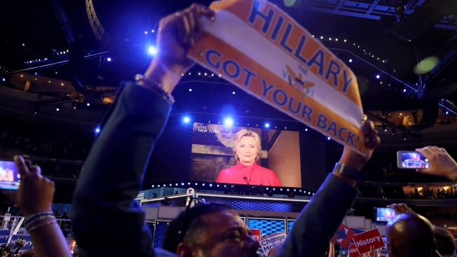 Hillary Clinton Captures Democratic Nomination for President, Says Glass Ceiling Cracked