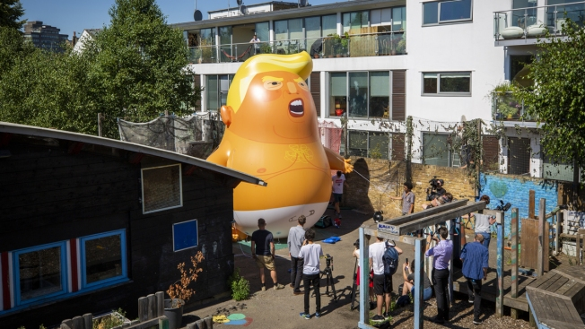 Big Blimp of Trump as a Baby OK'd for Aerial London Protest
