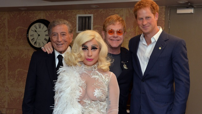 When Gaga Met Harry: Lady Gaga Meets Prince Harry in See-Through Outfit