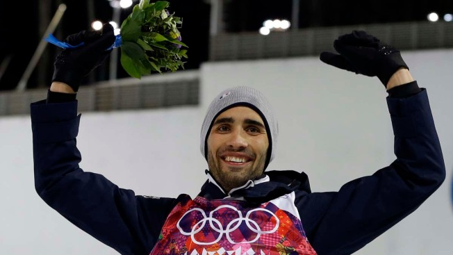 France's Fourcade Wins Olympic Gold in Biathlon Sprint 12.5km Pursuit