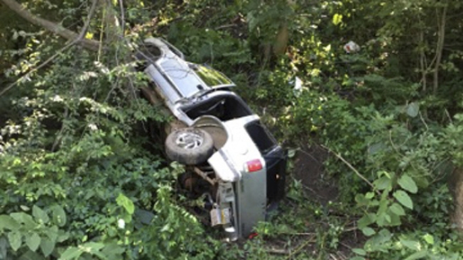 Toddler OK After Ride Down 100-Foot-High Hill in Runaway SUV: Police