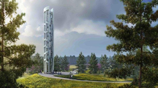 Work Begins on Wind Chime Tower at Flight 93 Memorial