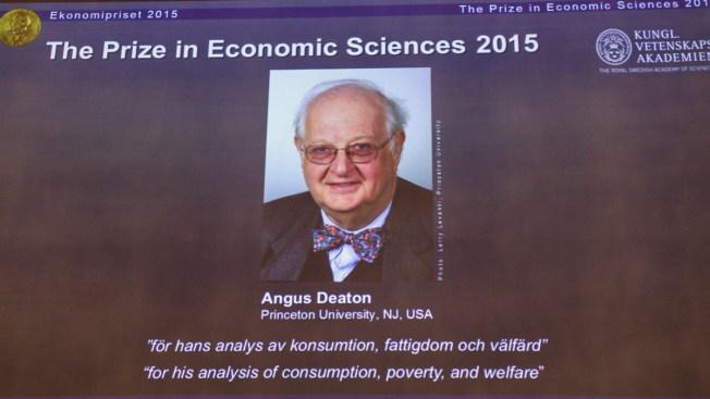Princeton's Deaton Wins Nobel Economics Prize