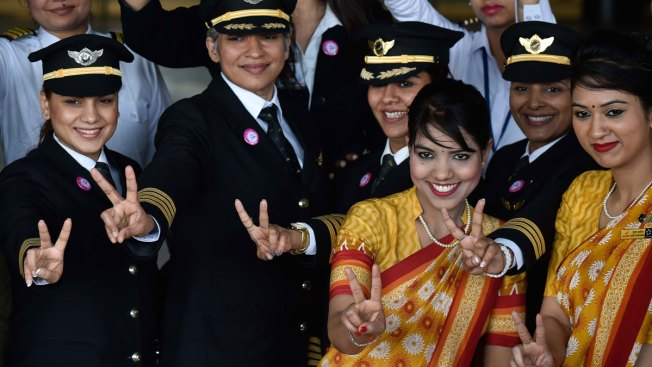 Air India Celebrates International Women's Day With All Women Crew
