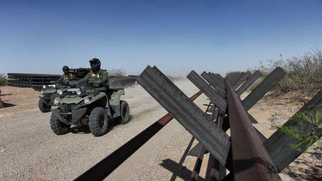 Trump Stands Firm on 'All Concrete' Wall Along U.S.-Mexico Border