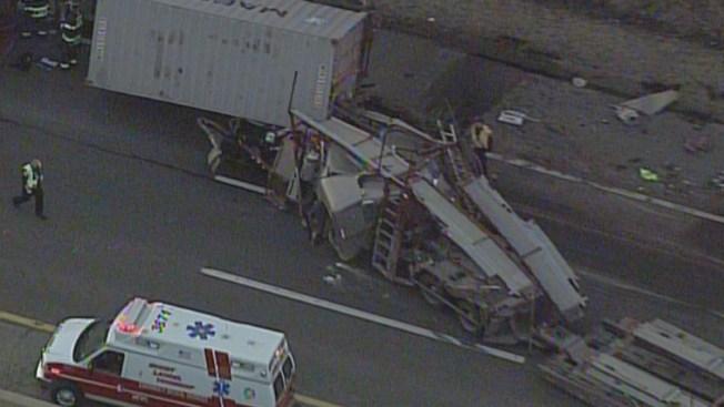 2 Hurt in Car-Carrier Truck Crash on NJ Turnpike